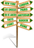 Cidades das estradas transversaas Fotos de Stock Royalty Free