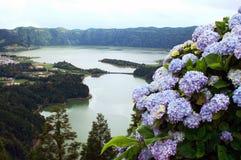 cidades das lagoa Miguel sao sete obrazy stock