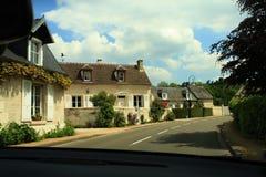 Cidades e vilas provinciais de França Rua e casas Foto de Stock Royalty Free