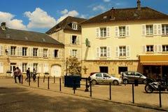Cidades e vilas provinciais de França Rua e casas Fotos de Stock Royalty Free
