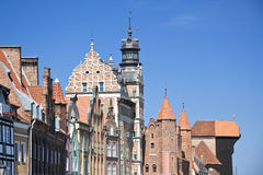 Cidades famosas em Poland - Gdansk - Danzig. Fotografia de Stock Royalty Free