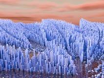 Cidades futuras, arranha-céus, ficção científica Imagem de Stock Royalty Free