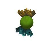 Cidades na esfera verde Fotografia de Stock