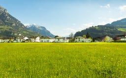 Cidades pequenas em Europa Brunnen switzerland Foto de Stock Royalty Free