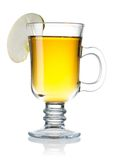 Cider. Hot cider isolated on white with reflection royalty free stock photography