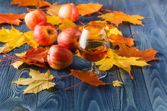 Cider - alcohol apple drink Royalty Free Stock Photos