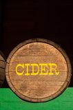 Cider barrel Stock Photography