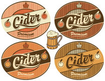 Cider label Royalty Free Stock Photos