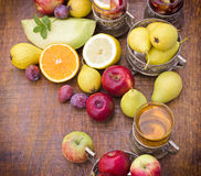 Cider and sangria Royalty Free Stock Images