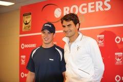 Cidney Crosby y Federer en la taza de Rogers 2010 (4) Fotos de archivo