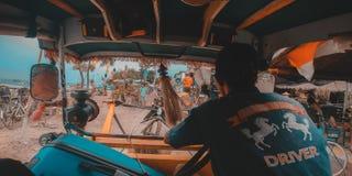 CIDOMO. The main transportation in Gili Terawangan, Lombok, Indonesia Stock Image
