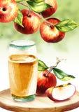 Cidre d'Apple Illustration d'aquarelle illustration stock