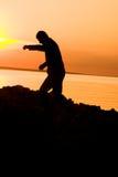 cień człowieka Zdjęcie Royalty Free
