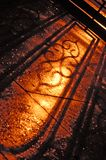 Cień dokonanego żelaza ogrodzenie Obrazy Stock