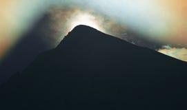 cień góry niezwykłego zdjęcia royalty free