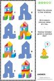 Cień gra z zabawką góruje royalty ilustracja