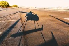 Cień helikopter fotografia stock