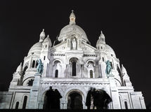 Cień na Sacre-Coeur bazylice fotografia royalty free