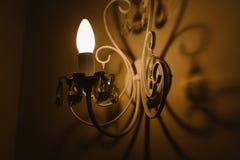 Cień od ściennej lampy Obrazy Royalty Free
