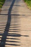 cień płotu Zdjęcie Royalty Free