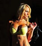cień piękna blond target163_0_ kobieta Obrazy Royalty Free