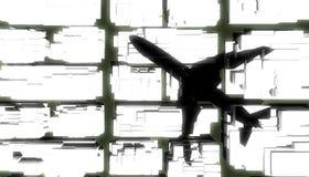 Cień samolot Zdjęcie Royalty Free