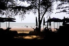 Cień w plaży zdjęcia stock