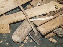 Cieśli drewna narzędzie Fotografia Royalty Free