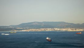 Cieśnina Gibraltar widok od wierzchołka góra zdjęcia stock