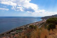 Cieśniny Messina (Włochy) obrazy stock