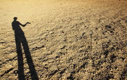 cień desert Obraz Royalty Free