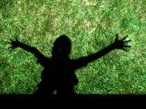 cień dzieciaka. zdjęcie royalty free