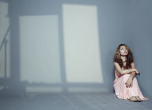 cień kobieta Zdjęcia Royalty Free
