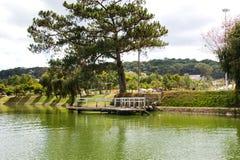 Cień na jeziorze Fotografia Stock