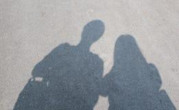 Cień nastolatek para Zdjęcie Royalty Free