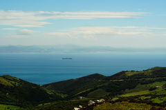 Cieśnina Gibraltar krajobraz Obraz Stock