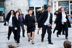 Cie Quai Des Valses. Aurillac International Street Theatre Festival in France, 2010. Show, ...et les autres by Cie Quai Des Valses. 500 artistics teams,2569 royalty free stock photos