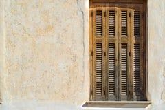 Ciechi del sole della finestra fotografia stock