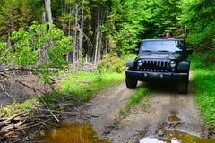 Ciechi della foto della jeep immagine stock