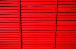 Ciechi di colore rosso fotografia stock