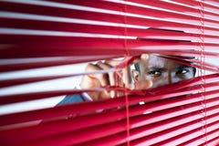 Ciechi di colore rosso Fotografia Stock Libera da Diritti