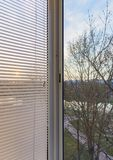 Ciechi di finestra fotografia stock