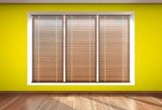 Ciechi di finestra della parete immagine stock