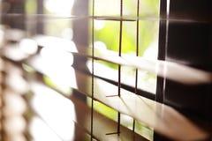 Ciechi di finestra orizzontali soleggiati fotografie stock libere da diritti