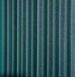 Ciechi di finestra verticali verdi del tessuto Fotografia Stock Libera da Diritti