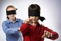 Cieco piombo i ciechi immagini stock libere da diritti