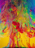 ciecz maluje zawijasy żywych Obrazy Stock