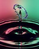 Ciecz Opadowa sztuka - Wodny Opadowy kształt obraz stock