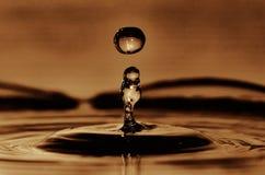 Ciecz wody kształt Fotografia Royalty Free