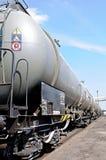 ciecza pociągu transportu furgony Fotografia Stock